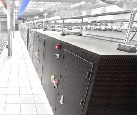 A row of IO Anywhere data center modules at the IO Phoenix facility.