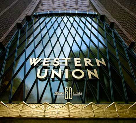 The entrance to 60 Hudson Street, the Manhattan data center hub that previously served as the headquarters for Western Union. (Source: 60 Hudson)