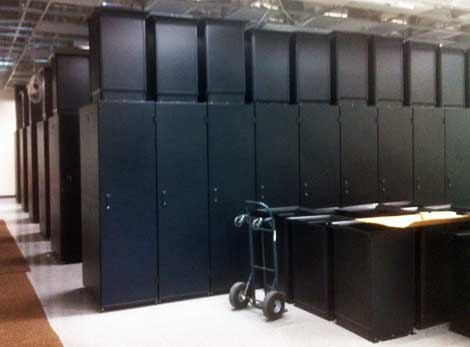 The interior of the OnRamp data center in Raleigh as it was preparing to open. The company is also building a new data center in Austin, Texas. (Photo: OnRamp).
