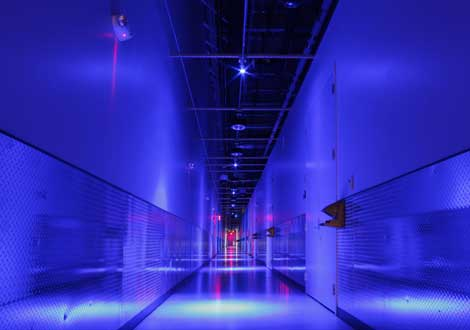 A hallway inside Equinix's DC11 data center in Ashburn, Virginia (Photo: Equinix)
