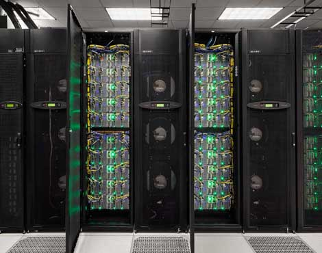 The Stampede supercomputer, pictured above, is one of the systems at the Texas Advanced Computing Center in Austin, which will benefit from a new 100 Gigabit connection to Internet2. (Photo: TACC)