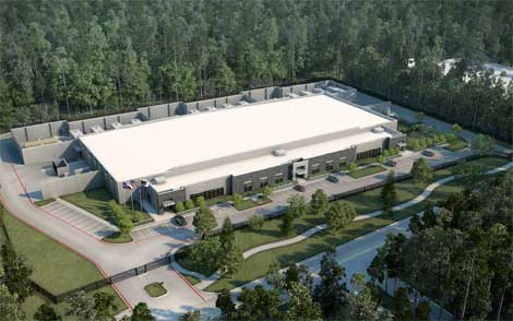 An artist's conception of the new Stream Data Centers wholesale project in Houston, which has announced its first tenant. (Image: Stream)