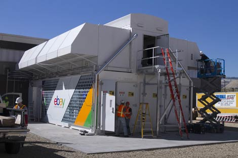 The HP EcoPod module at the eBay data center near Salt Lake City. (Photo: eBay)