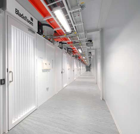 A corridor inside a BladeRoom data center (Photo: BladeRoom)