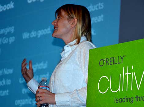 Speaking at Cultivate, Elaine Wherry, co-Founder, Meebo.com