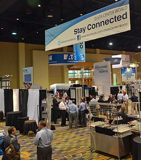 View of the exhibit floor at Data Center World. (Photo by Colleen Miller.)