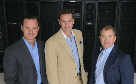 The executive team at DartPoint includes, from left, CFO Jeff Noland, CEO Hugh Carspecken and CRO Loren Long.