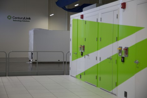 Another view of the CenturyLink-branded IO.Anywhere data center modules in the Phoenix data center
