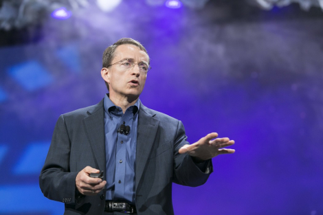 VMware CEO Pat Gelsigner speaking at VMworld 2014 in San Francisco. (Photo: VMware)
