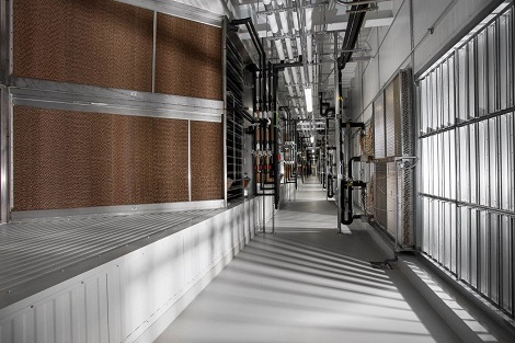 Coil room at Facebook's Altoona data center. (Photo: @2014 Jacob Sharp Photography)