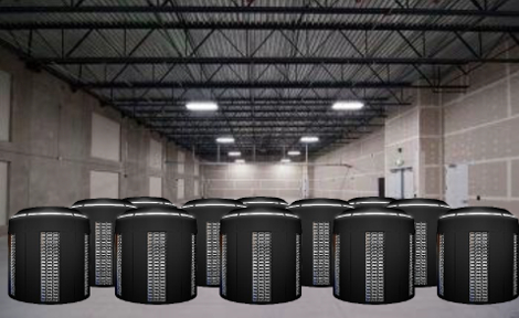 Visualization of a warehouse filled with Vapor Chambers (Image: Vapor IO)