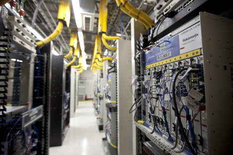 AT&T switching facility (Photo by John W. Adkisson/Getty Images)
