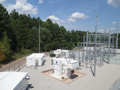 On-site electrical substation at Sentinel's North Carolina data center. (Photo: Sentinel Data Centers)