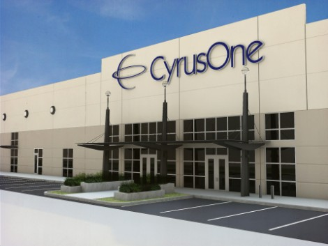 Rendering of the entrance to CyrusOne's Austin III data center (Image: CyrusOne)