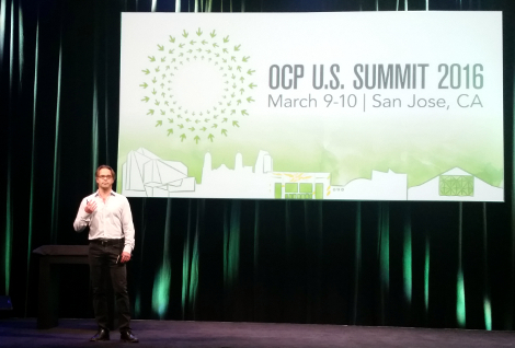 Jason Taylor, Facebook's VP of infrastructure, speaking at the Open Compute Summit in March 2016 in San Jose, California (Photo: Yevgeniy Sverdlik)