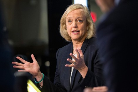 Meg Whitman, CEO of Hewlett Packard Enterprise in New York City in November, 2015. (Photo by Andrew Burton/Getty Images)