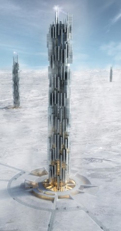 Rendering of the Data Towers by Valeria Mercuri and Marco Merletti (Credit: V. Mercuri, M. Merletti)