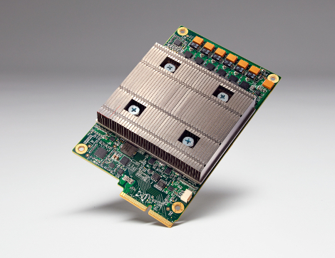 The Tensor Processing Unit board. The TPU is a chip, or ASIC, Google designed in-house specifically to power Artificial Intelligence systems in its data centers. (Photo: Google)