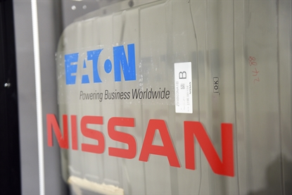 Nissan and Eaton's energy storage system that uses used electric-car batteries (Photo: Nissan)