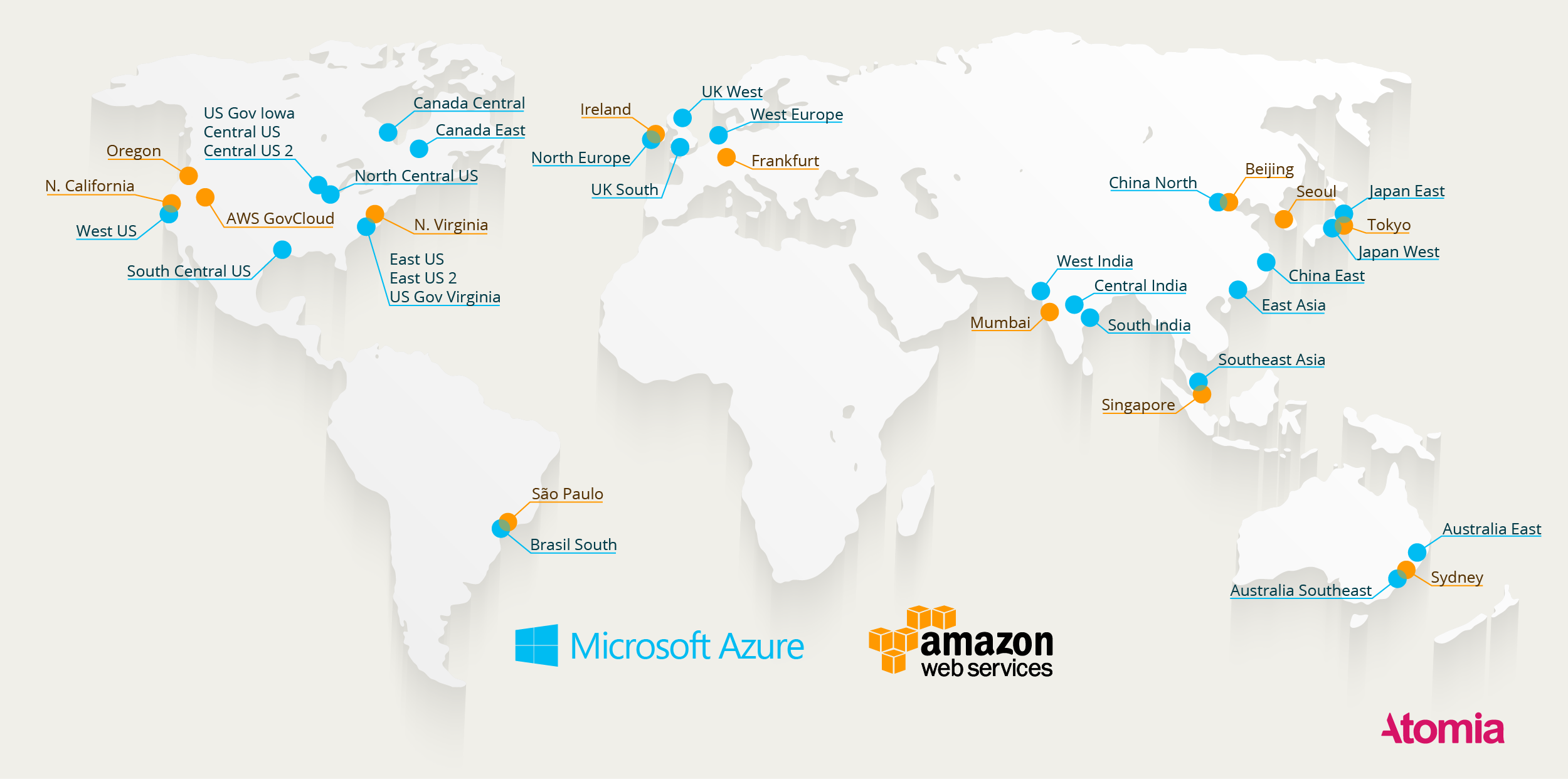 Here\'s a Map of All Azure and AWS Data Centers | Data Center Knowledge